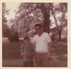 The day of Keith's first Little League Baseball Game for that year, with Roger his dad